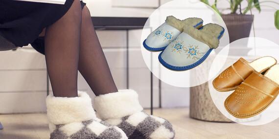Dopřejte svým nohám pohodlí s papučemi z pravé ovčí vlny/ČR