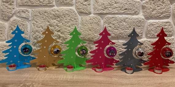 Vianočné gule s vlastnou fotografiou (samostatne alebo so stromčekom a svietnikom)/Slovensko