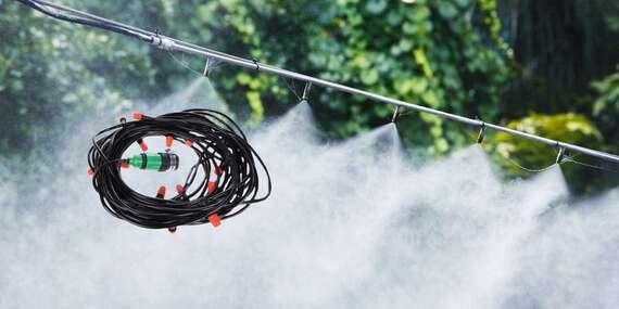 Chladicí systém do zahrady s 10 tryskami na vodní mlhu - na výběr 10 nebo 15 m/Slovensko