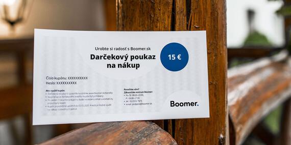 Darčekový poukaz na nákup na Boomer.sk/Celé Slovensko