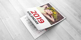 Kalendár A4/A3 na šírku, 13 listov vrátane obálky