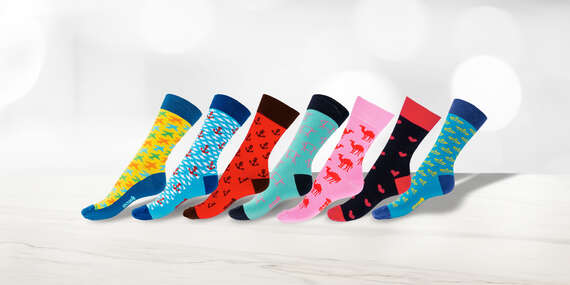 NOVINKA: Pohodlné farebné ponožky GOSH s voľným lemom (18 vzorov)/Slovensko