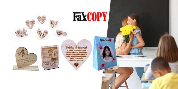 Štýlové darčeky s vlastným vygravírovaným motívom s osobným odberom ZADARMO až v 40 predajniach FaxCOPY/Slovensko