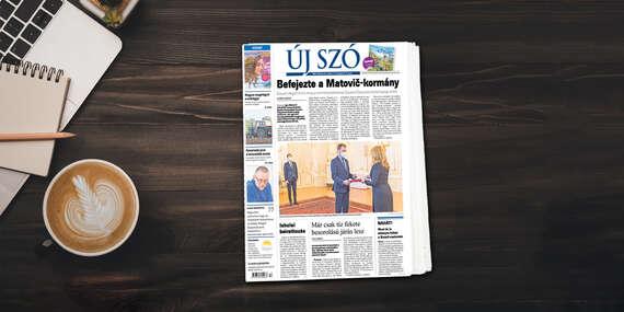 Ročné predplatné maďarského denníka Új Szó/Slovensko
