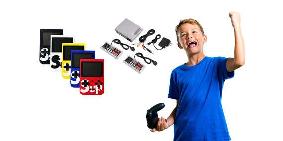 Herné retro konzoly 400v1 s možnosťou prepojenia s TV alebo konzola so 620 hrami s dvoma ovládačmi/Slovensko
