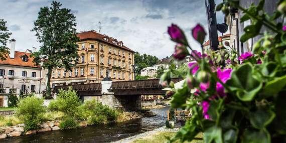 Pobyt v malebnom hoteli Dvořák**** priamo v historickom centre Českého Krumlova/Česká republika