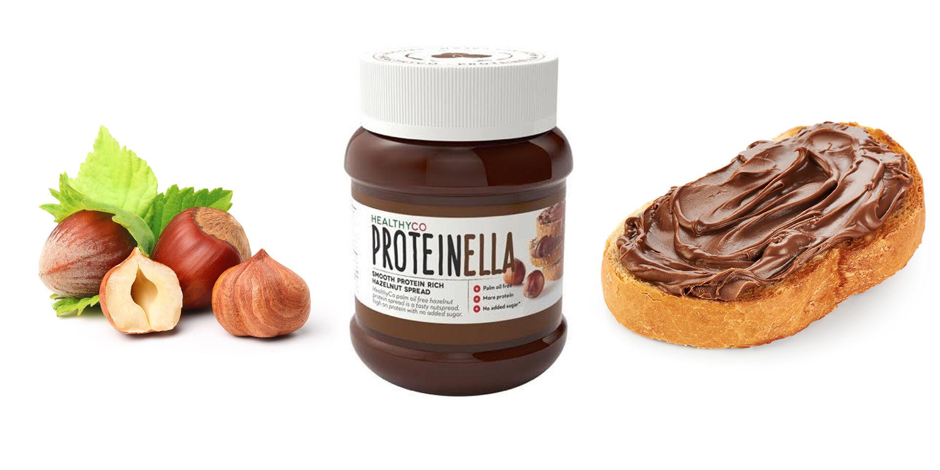 Proteínová verzia orieškovo-čokoládovej nátierky - Proteinella s prospešnými živinami a nie len prázdnymi kalóriami