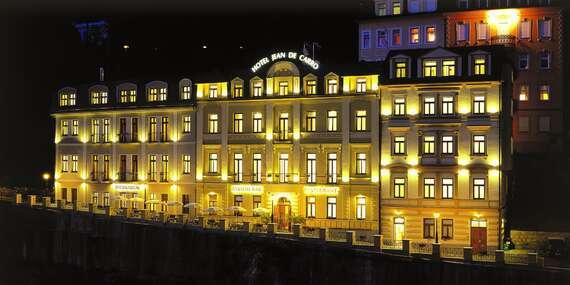 Karlovarské jaro v Hotelu Jean de Carro**** přímo na kolonádě s polopenzí, vstupem do thermaria i s masáží / Karlovy Vary