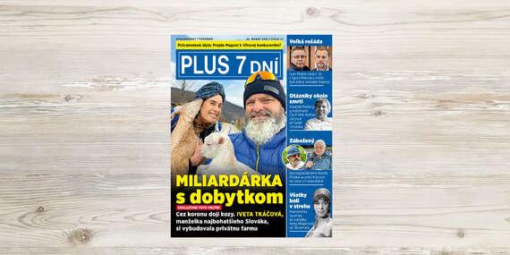 Ročné predplatné najčítanejšieho týždenníka na Slovensku PLUS 7 DNÍ/Slovensko