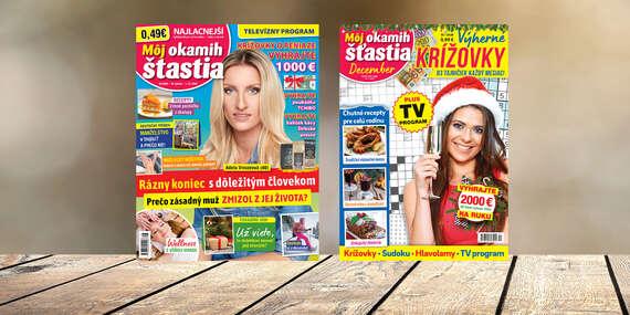 Ročné predplatné časopisu Môj okamih šťastia a Môj okamih šťastia KRÍŽOVKY/Slovensko
