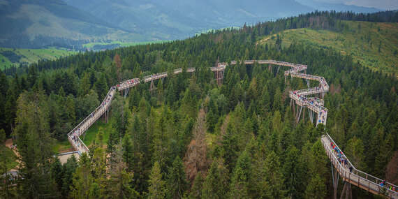 Dovolenka pod Belianskymi Tatrami na skok od Chodníka korunami stromov / Ždiar - Belianske Tatry