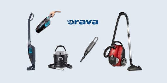 Moderné vysávače ORAVA: tyčový 2v1, mini, na popol alebo extratichý vreckový/Slovensko