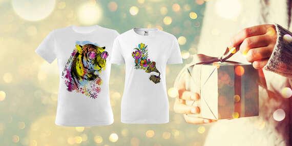 Originálne tričko s potlačou, omaľovánkou alebo pre páry s osobným odberom ZADARMO až v 39 predajniach FaxCOPY/Slovensko