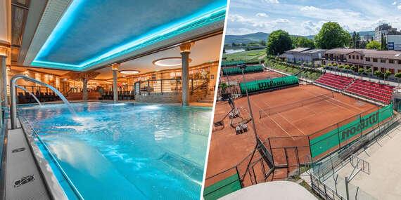 Pobytový balíček s výukou tenisu pre amatérov aj profesionálov v Aqua Sport Hotel*** / Púchov