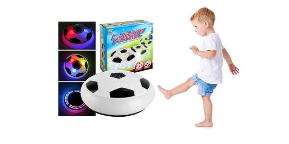 Hover ball, vznášajúca sa a svietiaca lopta na bezpečnú hru v interiéri/Slovensko