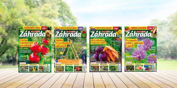 Ročné predplatné inšpiratívneho časopisu Záhrada/Slovensko