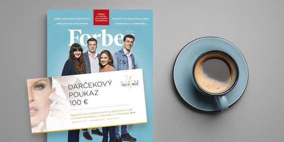 Ročné predplatné Forbes + 100 € kupón do prestížnej estetickej kliniky YES VISAGE/Slovensko