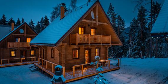Lyžovačka až pre 10 ľudí v tichom horskom prostredí Liptova s ubytovaním a wellness v zruboch HOREC / Liptovský Ján - Liptov