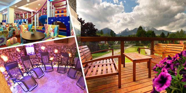 Júlový last minute v Hoteli Lesana***: Tatry s výhľadom na Lomnický štít, wellness, polpenziou a vstupom do Kinderlandu