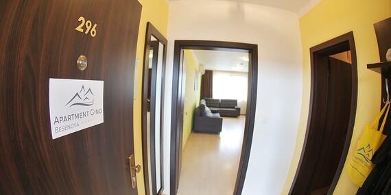 Apartmán až pre 6 osôb priamo vo Vodnom svete Bešeňová s 20 % zľavou na vstup/Slovensko