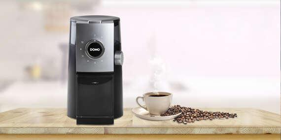 Elektrický mlynček na kávu DOMO s mlecími kameňmi/Slovensko