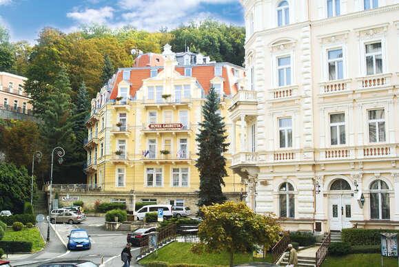 Spa hotel Lauretta*** s procedúrami a plnou penziou len 3 min. od kolonád v Karlových Varoch